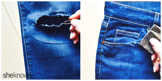 How to Fray Jeans: Fray and Distress