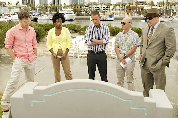 Dexter and his coworkers in Dexter