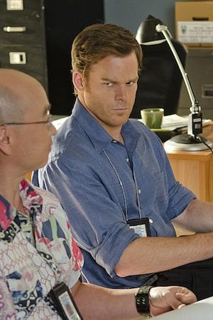 Dexter glares at Masuka