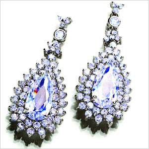 Diamond aura earrings