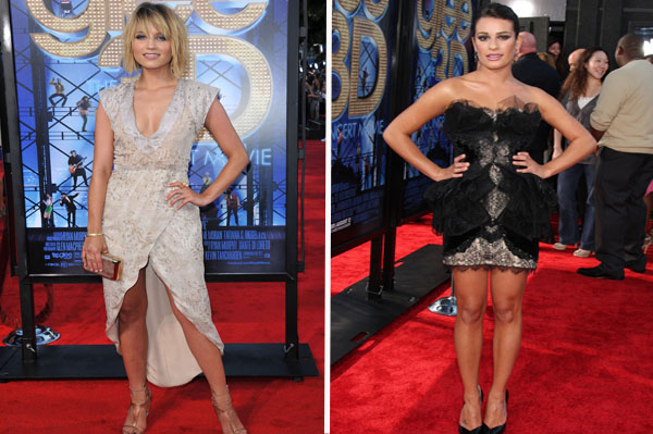 Dianna Agron and Lea Michele fashion face-off