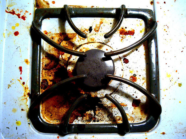 Dirty stovetop