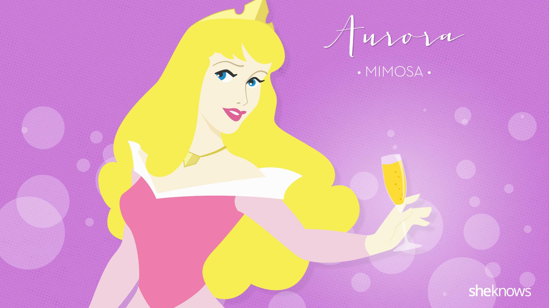 disney princess signature cocktails aurora