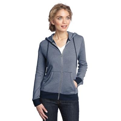 District Clothing Mini Stripe Full-Zip Hoodie