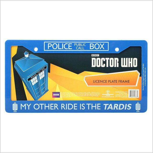 Doctor Who license-plate frame