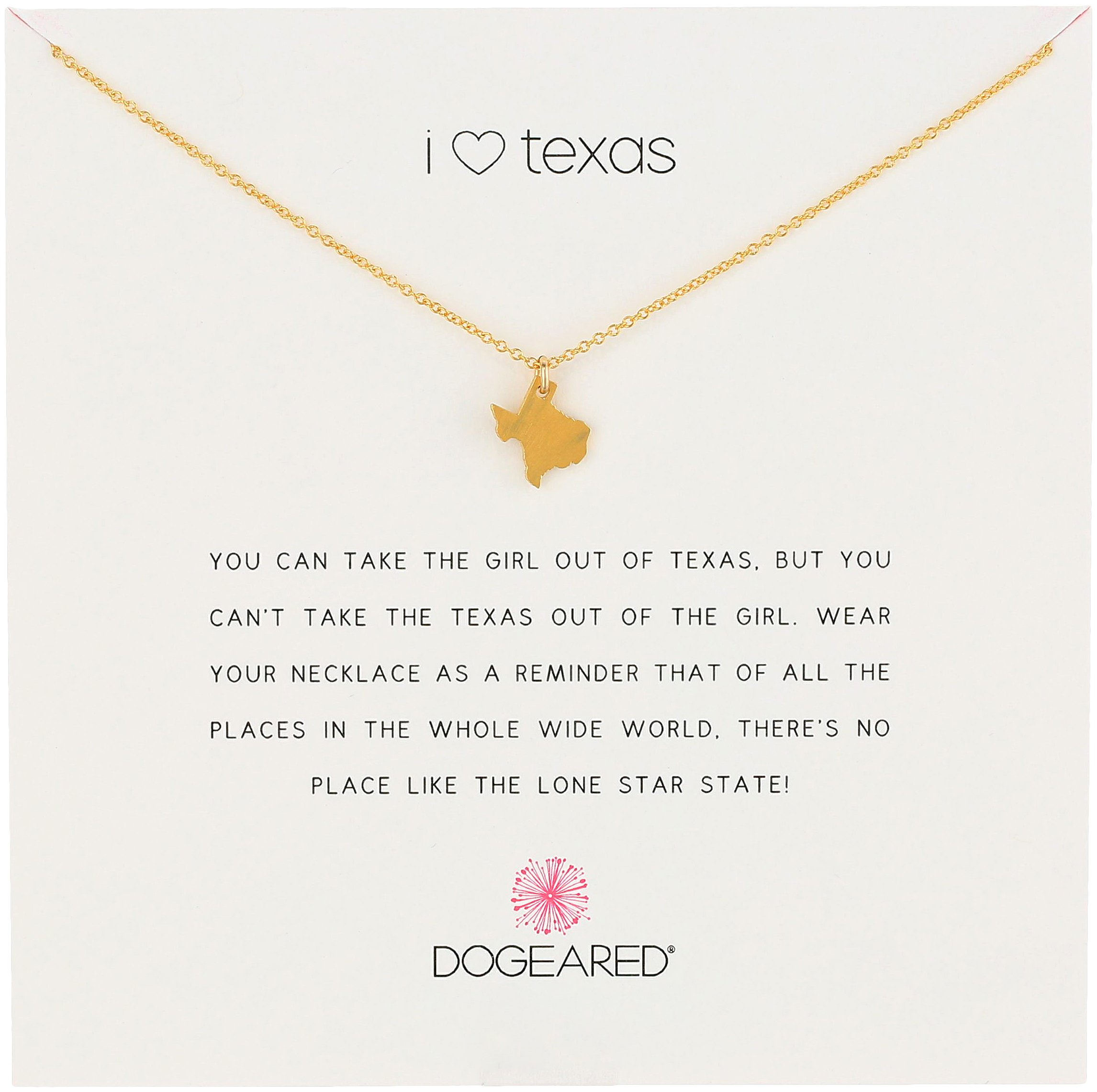 I Heart Texas necklace pendant Dogeared