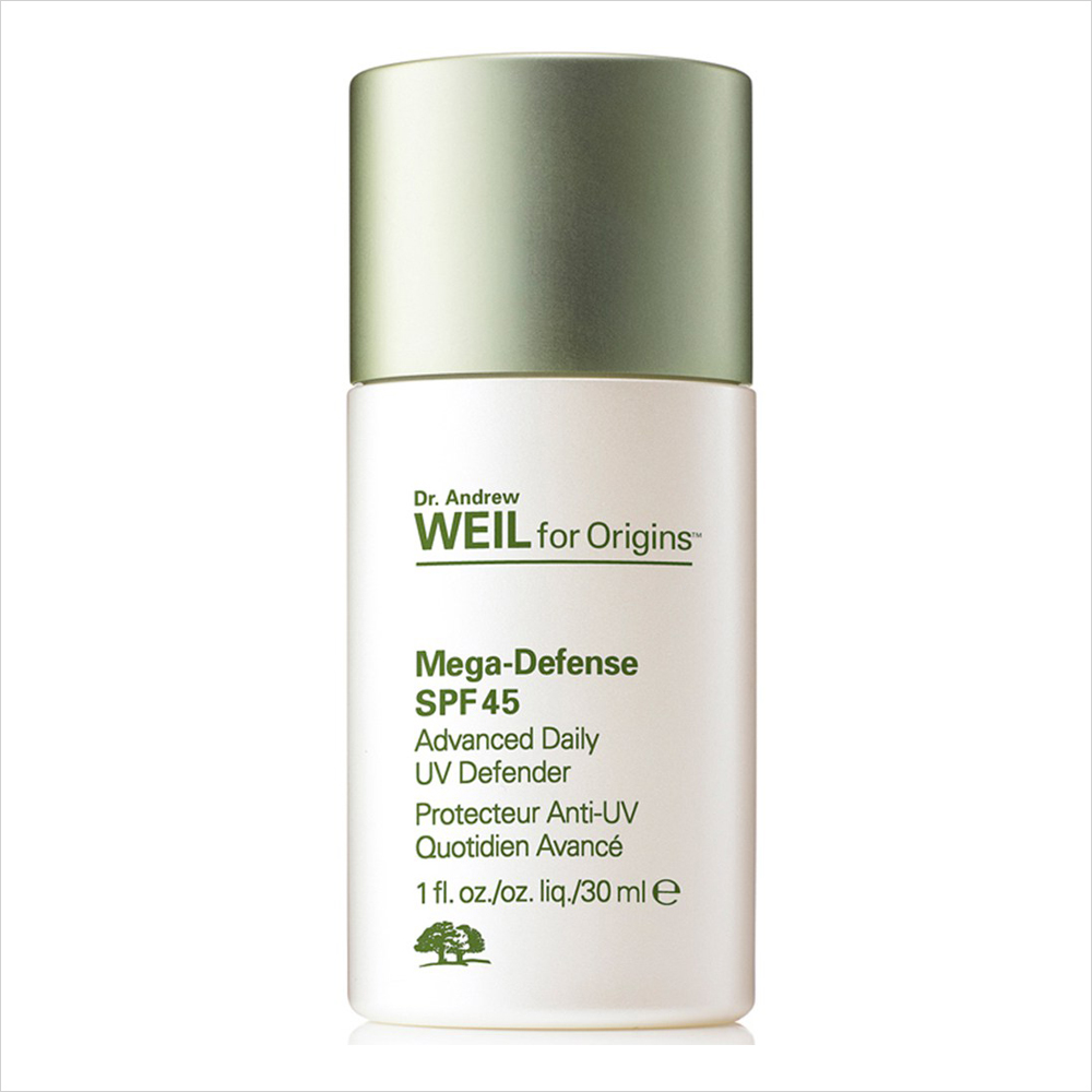 Best Sunscreens for Oily Skin: Dr. Andrew Weil for Origins Mega-Defense Advanced Daily UV Defender SPF 45 | Summer Skin