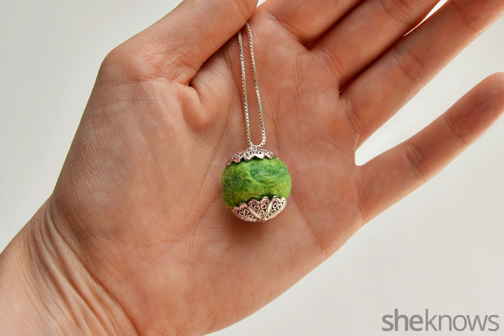 Essential oil necklace step 6