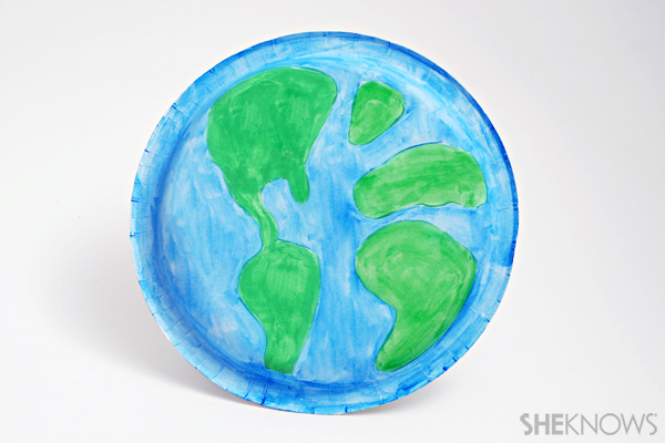 Earth day crafts - Earth plate
