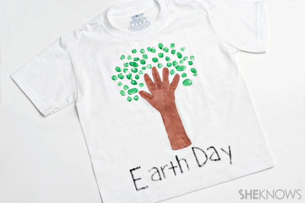 Earth Day crafts - Tree t-shirt