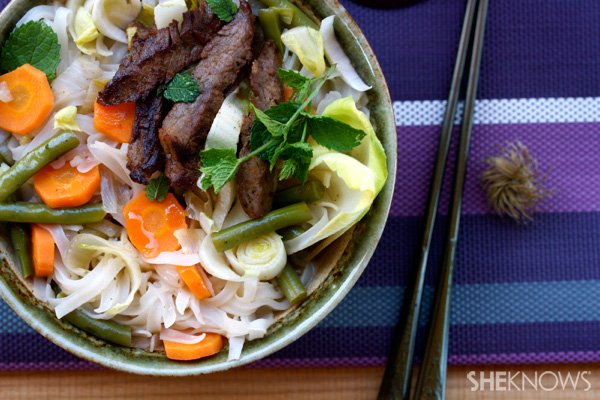 Easy spicy beef pho