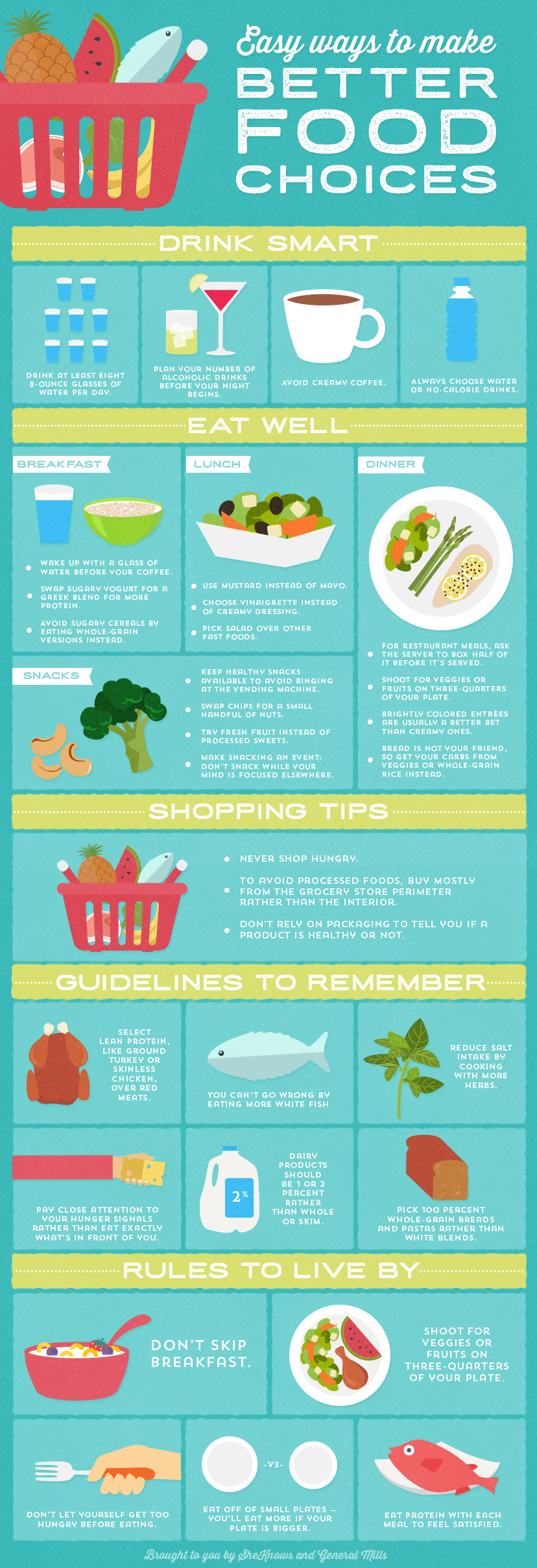 easy ways to make better and healthy food choices