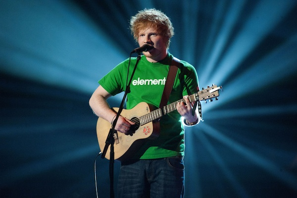 Ed Sheeran at The 2012 Brit Awards
