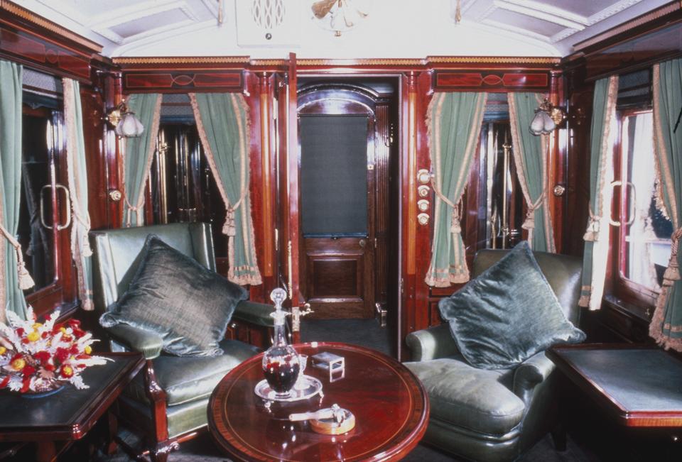 King Edward VII smoking room on the royal train