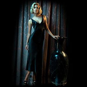 Elegant silk gown