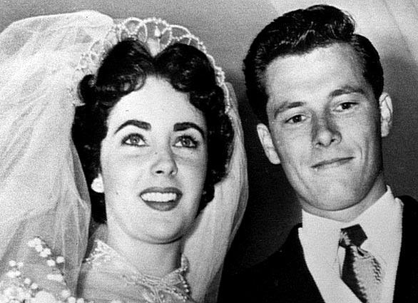 Elizabeth Taylor and husband Conrad Hilton