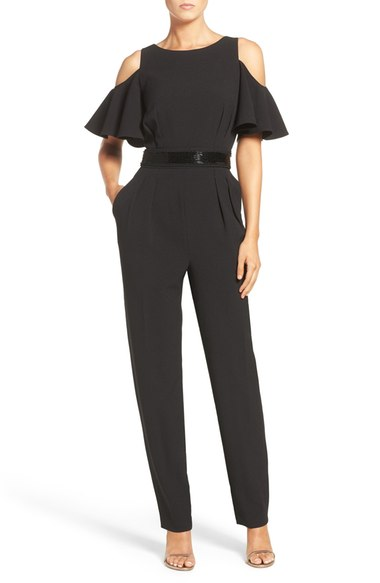 Eliza J Cold Shoulder Jumpsuit