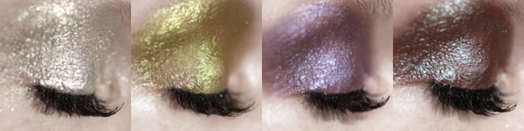 shimmer metallic eye makeup