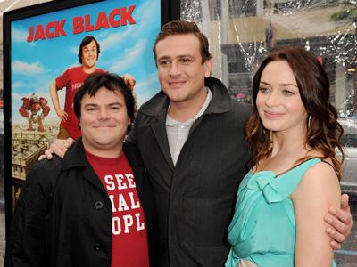 Emily Blunt, Jack Black and Jason Segel