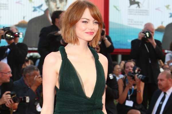 Emma Stone and the plunging neckline trend