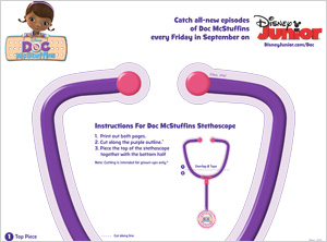 photo regarding Printable Doc Mcstuffins called 5 Cost-free medical professional go to printables for children SheKnows