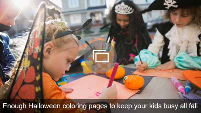 Enough Halloween coloring pages to keep your kids busy all fall