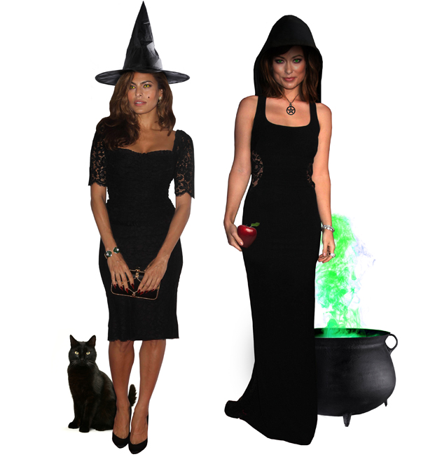 Eva Mendes and Olivia Wilde as witches