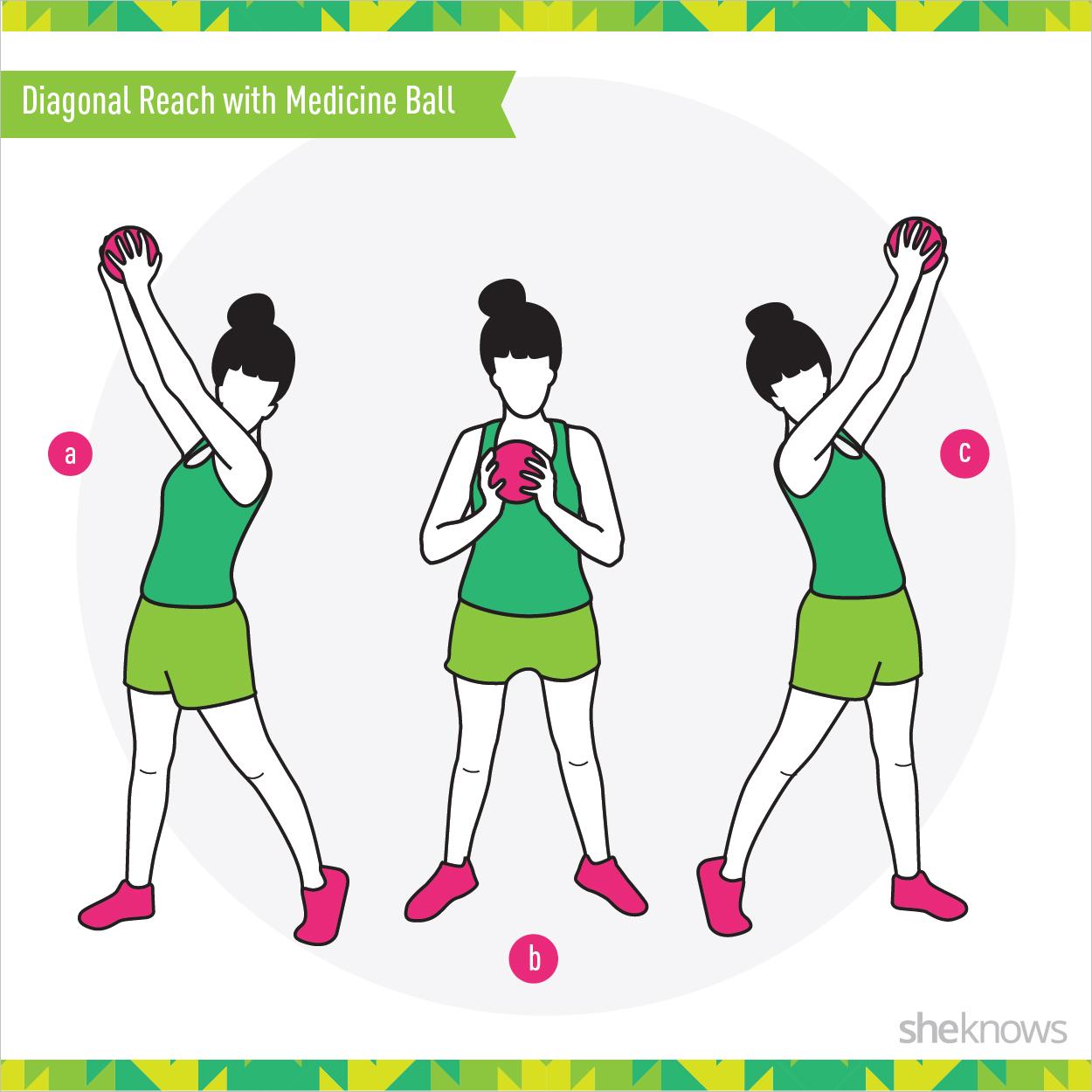 Diagonal Reach with Medicine Ball