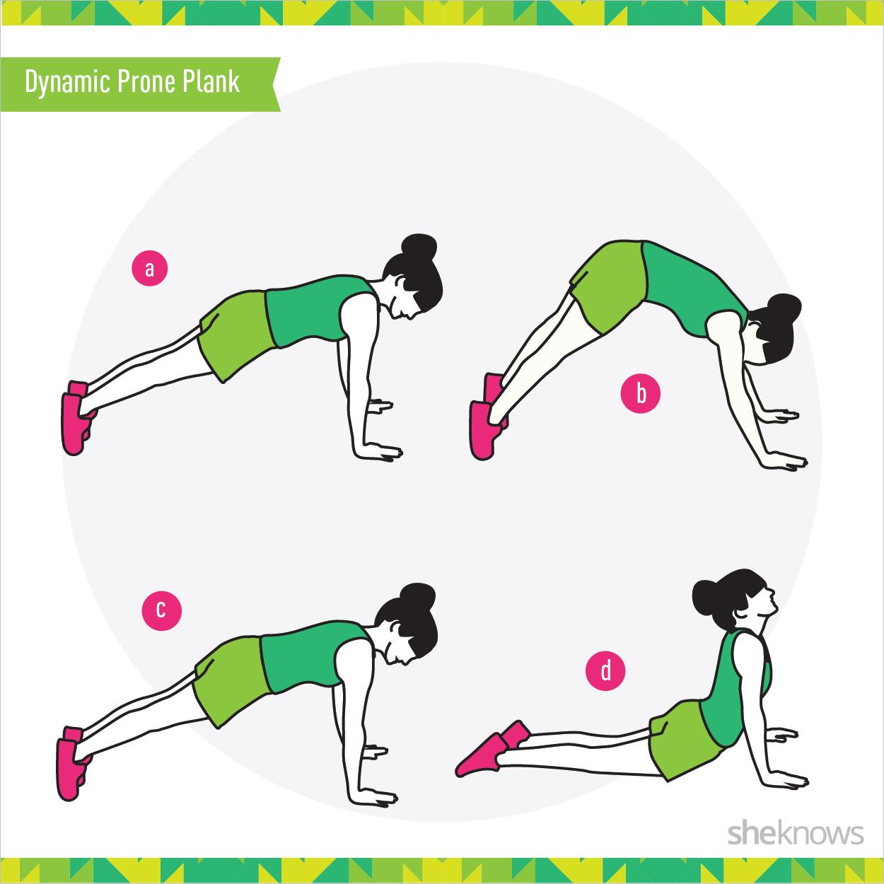 Dynamic prone plank