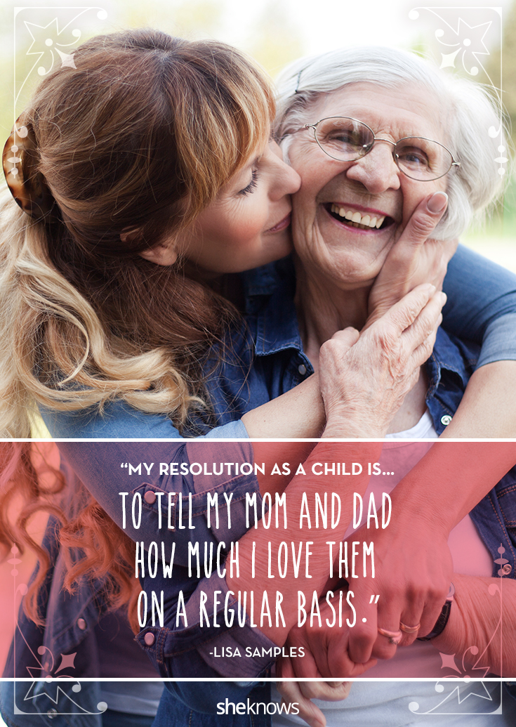 Resolution: tell your parents you love them