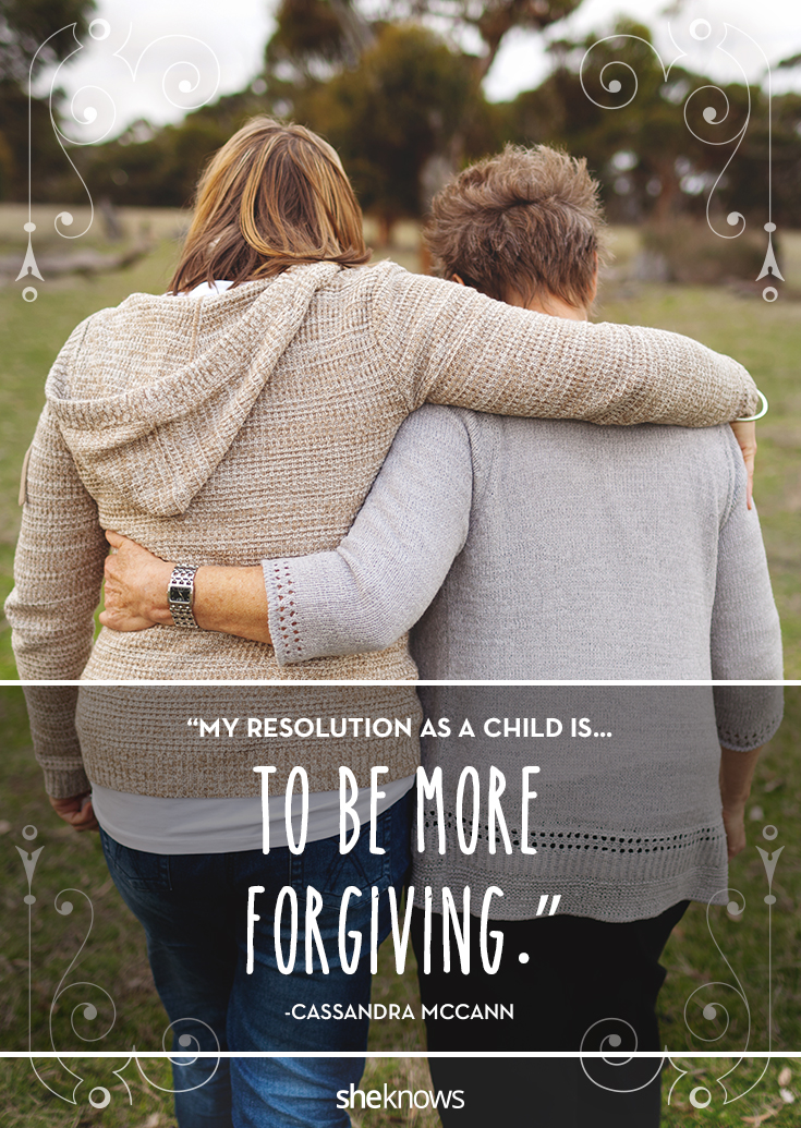 Resolution: To be more forgiving
