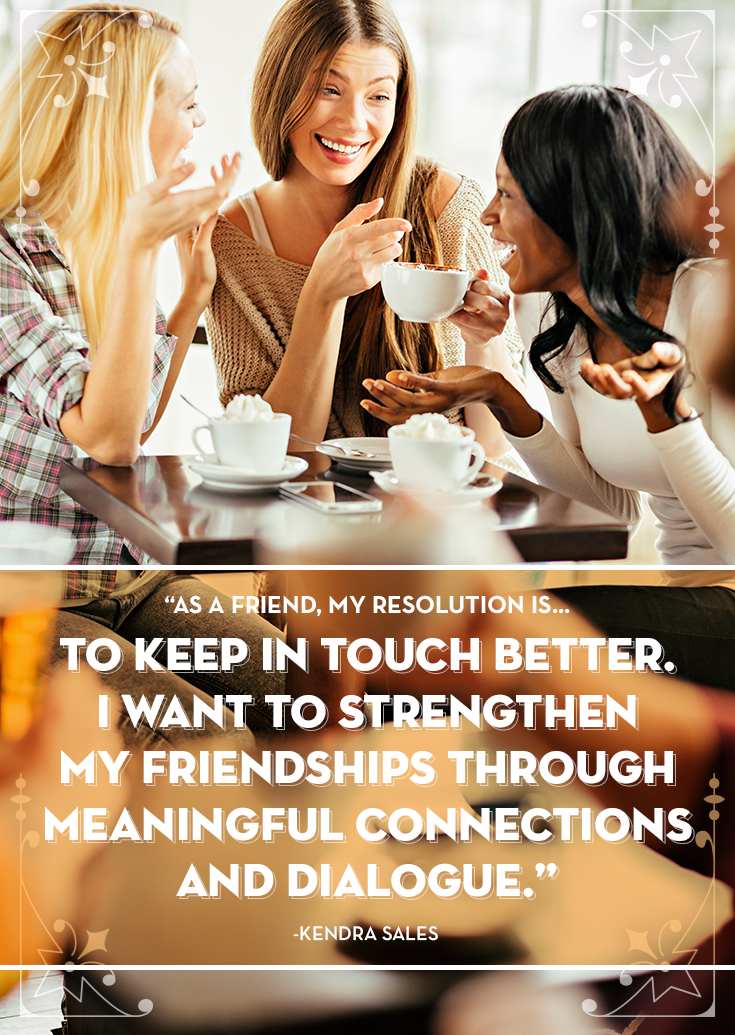 friendship resolution: keep in touch