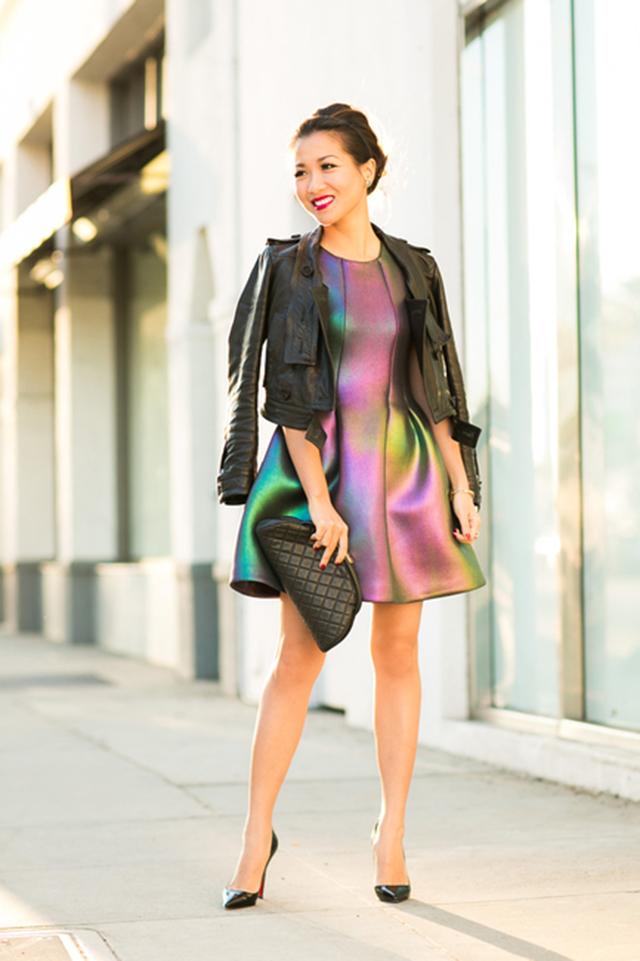 iridescent dress