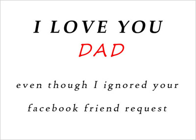 Father's Day card for the social media literate man