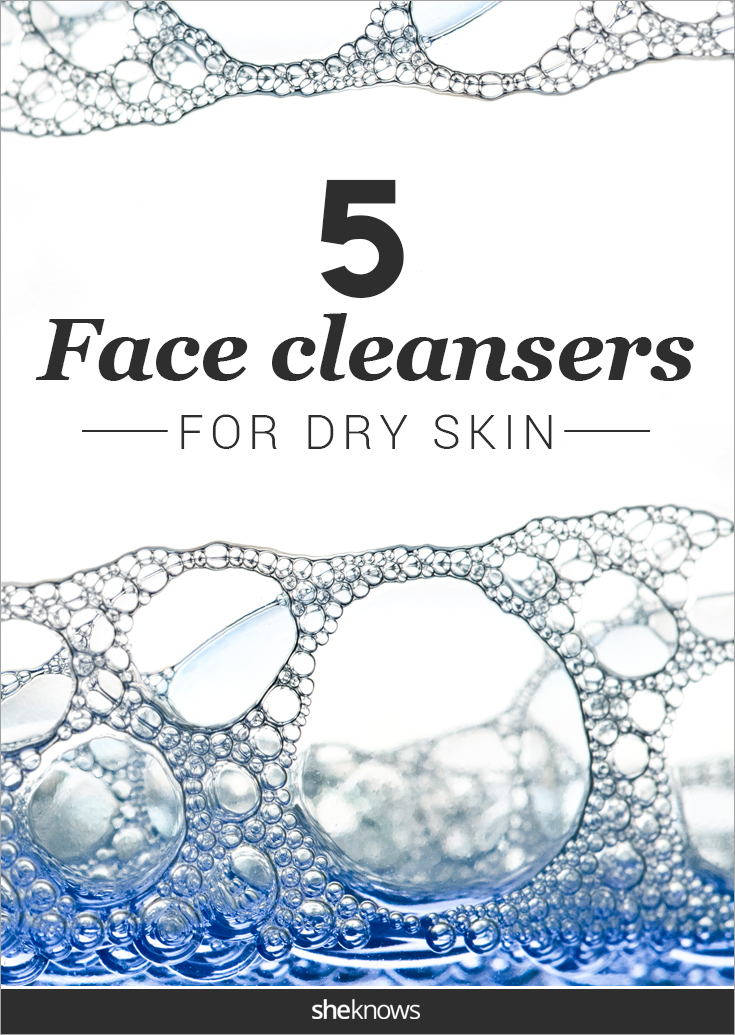 Face cleanser for dry skin