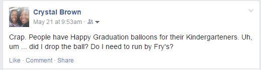 Facebook balloon message