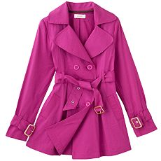 Raspberry trench coat by Candies