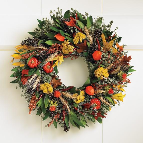 Fall abundance wreath