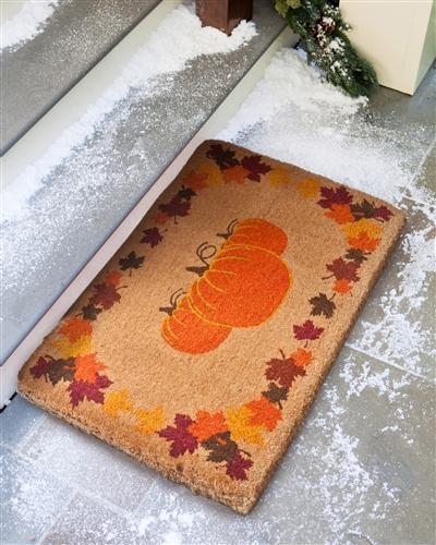 Fall pumpkin coco mat