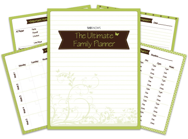 The Ultimate Family Planner Binder Sheknows