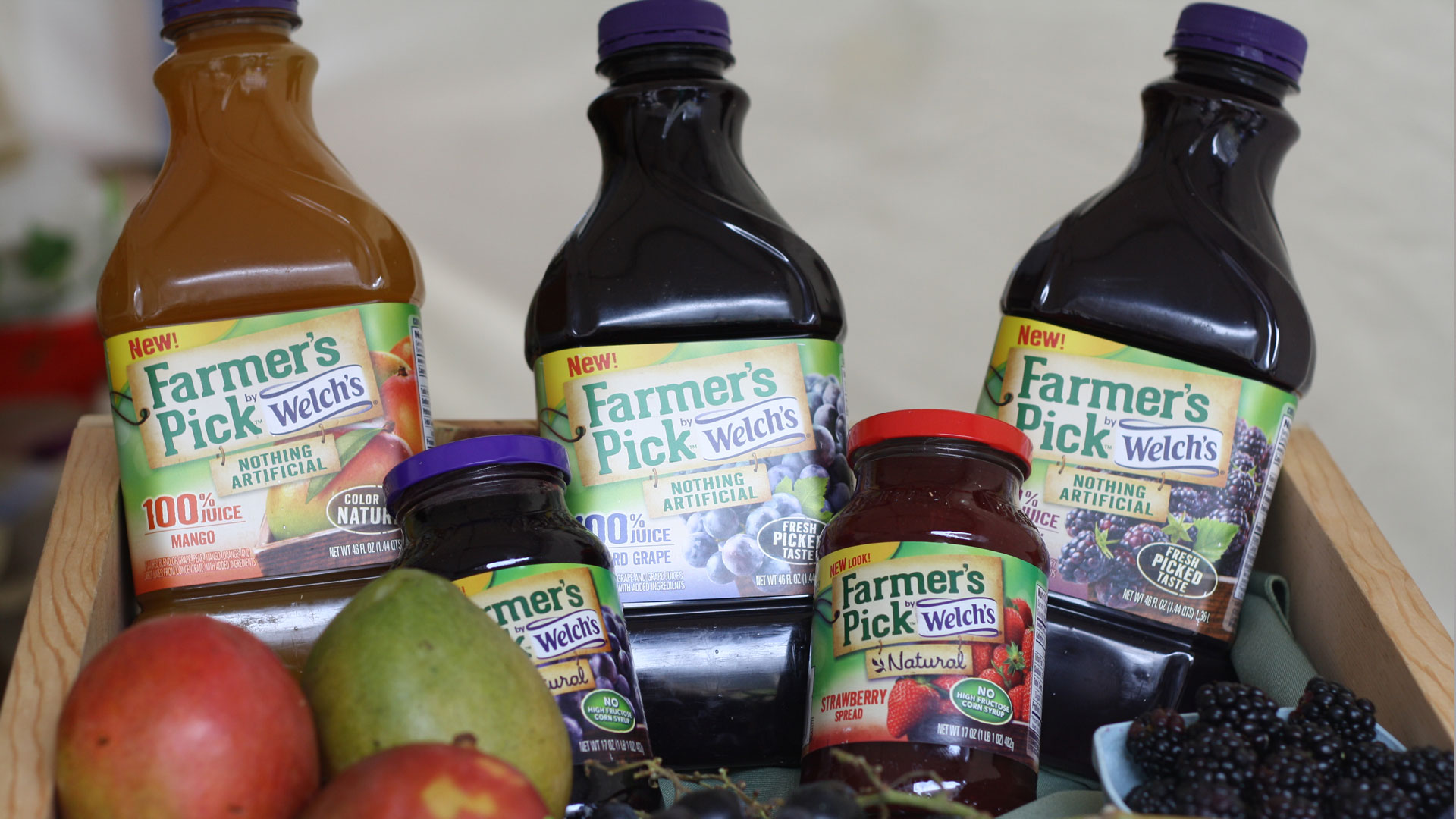 Farmer's Pick juices and spreads by Welch's