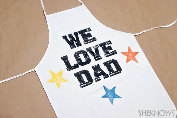Father's Day craft - Personalized apron
