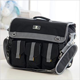 Diaper Dude Black Deluxe Diaper Bag