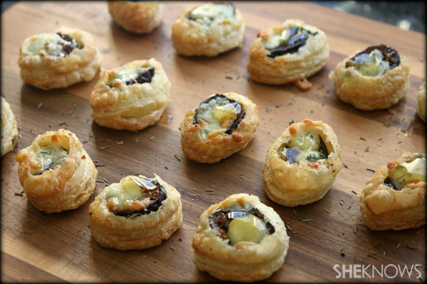 Fig and gorgonzola puff pastry bite recipe