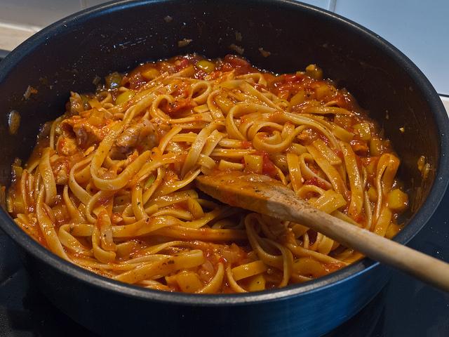 finish pasta in the sauce