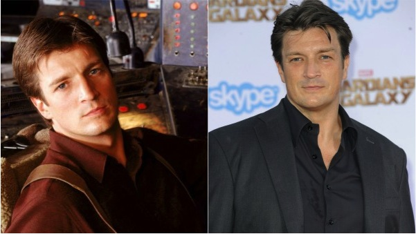 Nathan Fillion then and now
