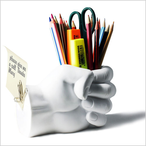 Fist Pen Holder with Paperclip Magnet