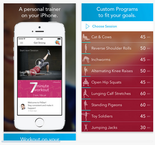 FitStar Yoga and FitStar Personal Trainer