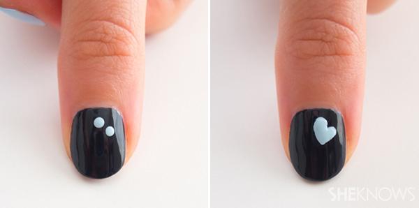 Floating hearts nail design   SheKnows.com
