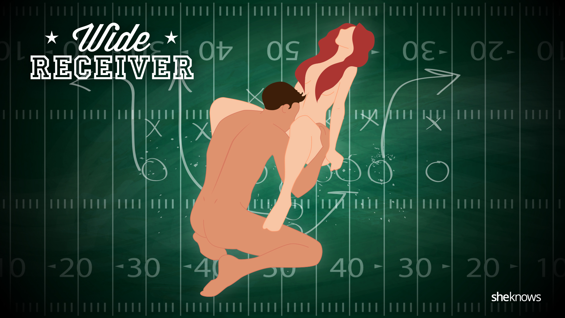 Football-inspired sex positions for halftime: Wide Receiver